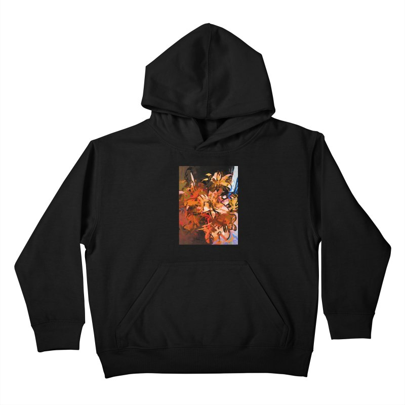 Maelstrom of Orange Lily Flowers Kids Pullover Hoody by jackievano's Artist Shop