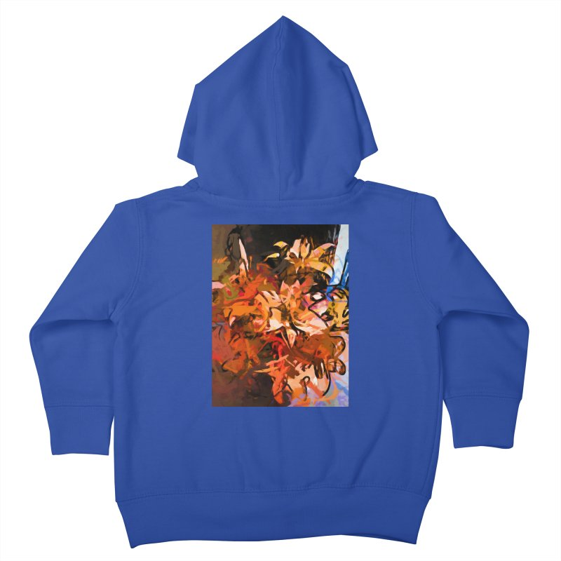 Maelstrom of Orange Lily Flowers Kids Toddler Zip-Up Hoody by jackievano's Artist Shop