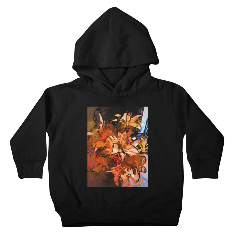 Maelstrom of Orange Lily Flowers Kids Toddler Pullover Hoody by jackievano's Artist Shop