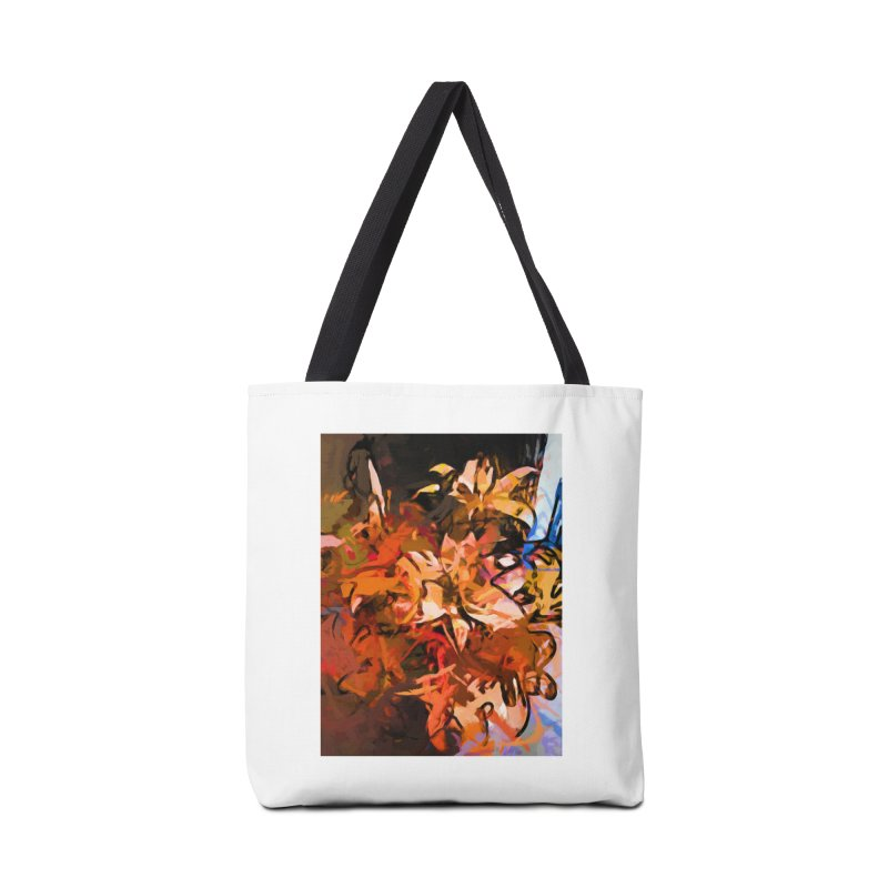 Maelstrom of Orange Lily Flowers Accessories Bag by jackievano's Artist Shop