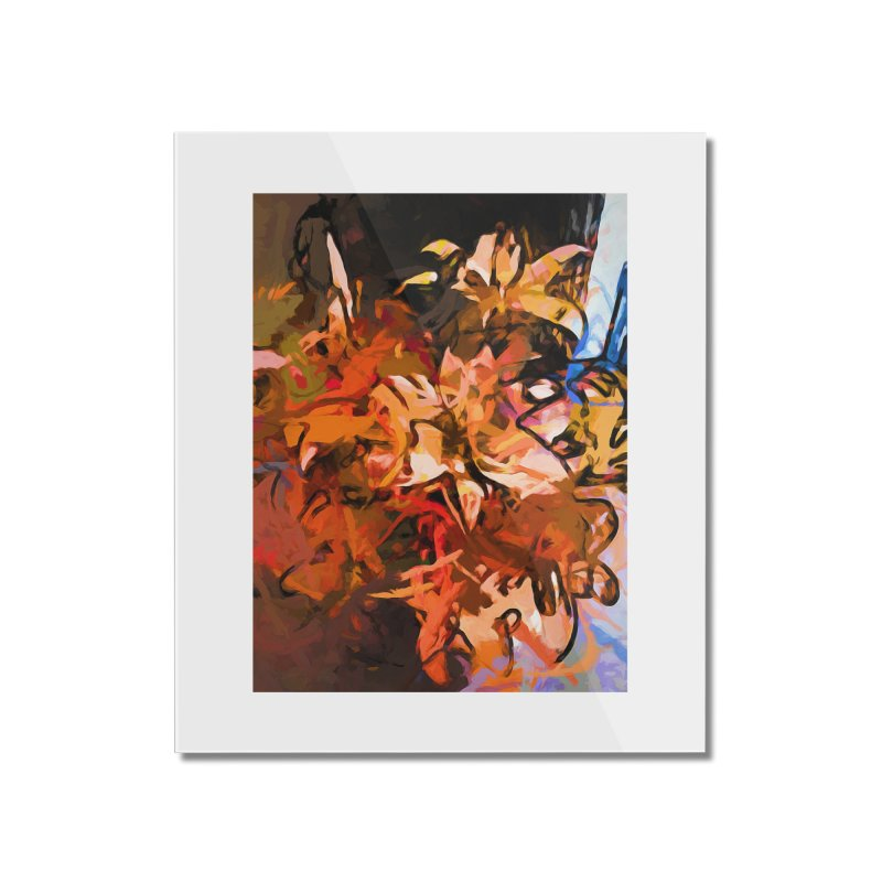 Maelstrom of Orange Lily Flowers Home Mounted Acrylic Print by jackievano's Artist Shop