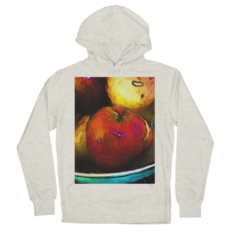 Wine Apple with Gold Apples Men's French Terry Pullover Hoody by jackievano's Artist Shop