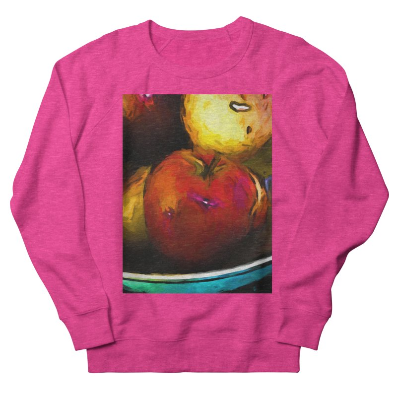 Wine Apple with Gold Apples Men's French Terry Sweatshirt by jackievano's Artist Shop
