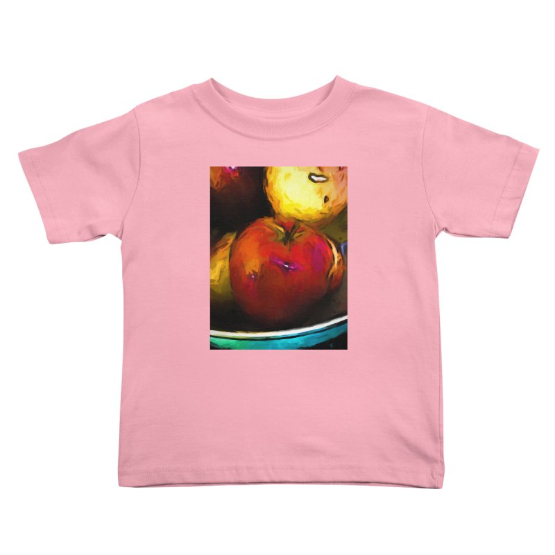 Wine Apple with Gold Apples Kids Toddler T-Shirt by jackievano's Artist Shop
