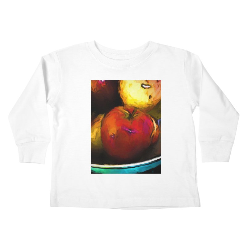 Wine Apple with Gold Apples Kids Toddler Longsleeve T-Shirt by jackievano's Artist Shop