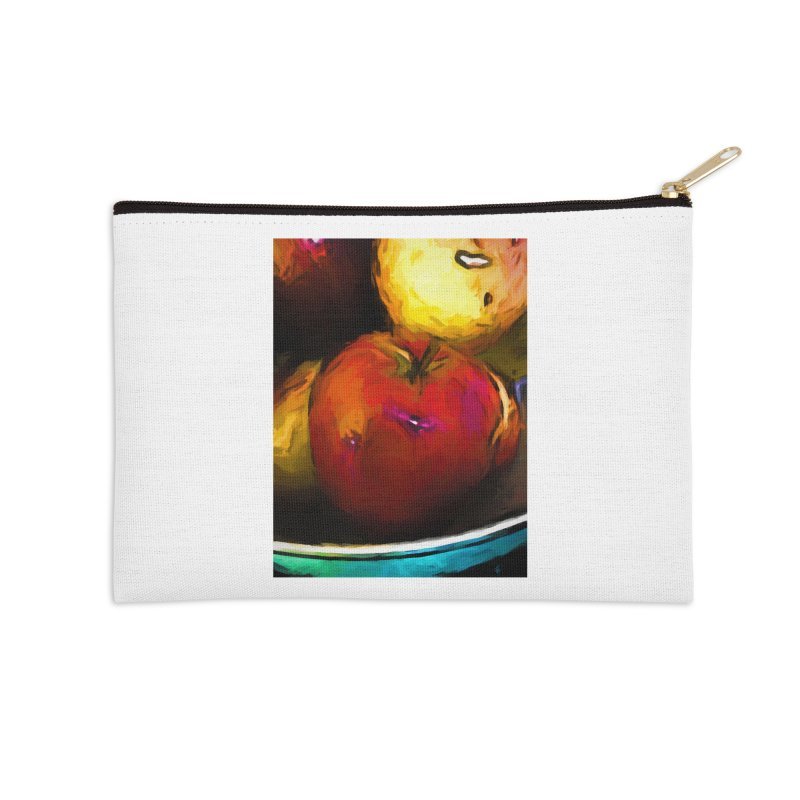Wine Apple with Gold Apples Accessories Zip Pouch by jackievano's Artist Shop