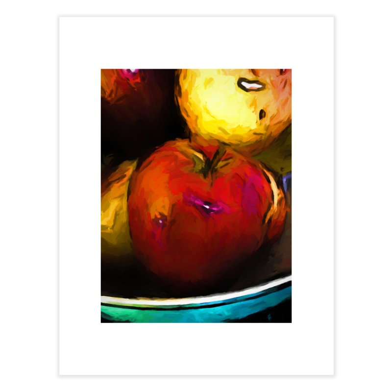 Wine Apple with Gold Apples Home Fine Art Print by jackievano's Artist Shop