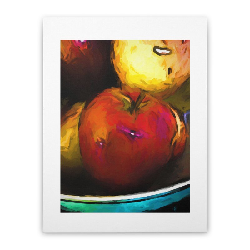 Wine Apple with Gold Apples Home Stretched Canvas by jackievano's Artist Shop