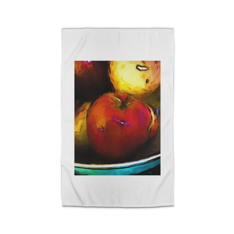 Wine Apple with Gold Apples Home Rug by jackievano's Artist Shop