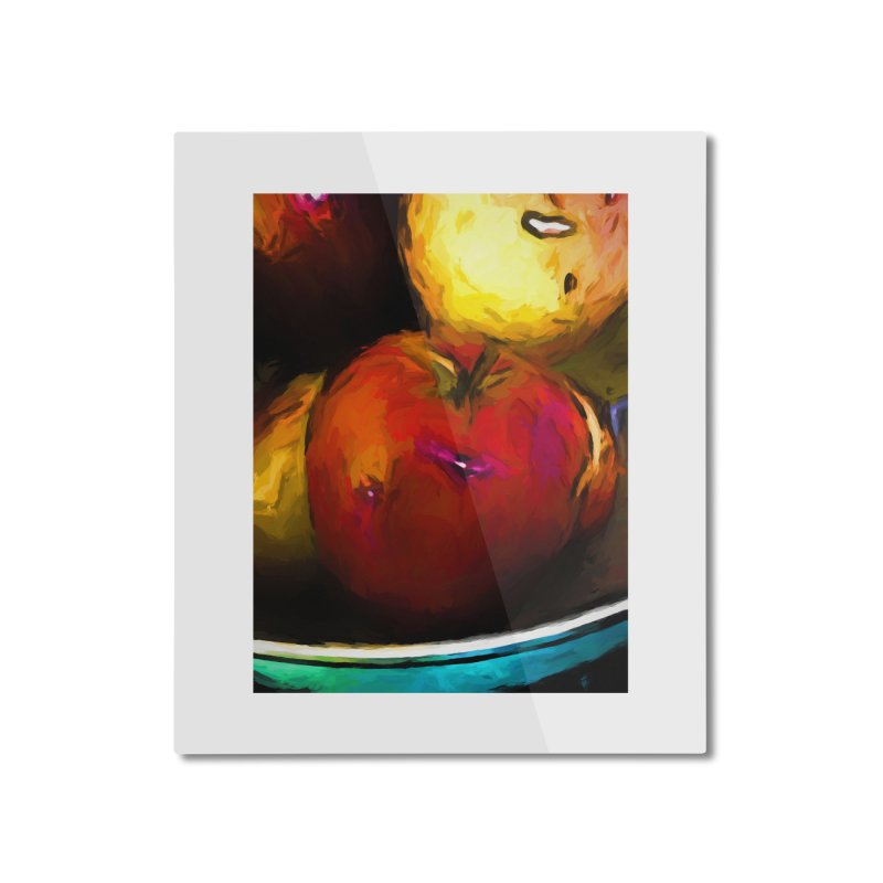Wine Apple with Gold Apples Home Mounted Aluminum Print by jackievano's Artist Shop