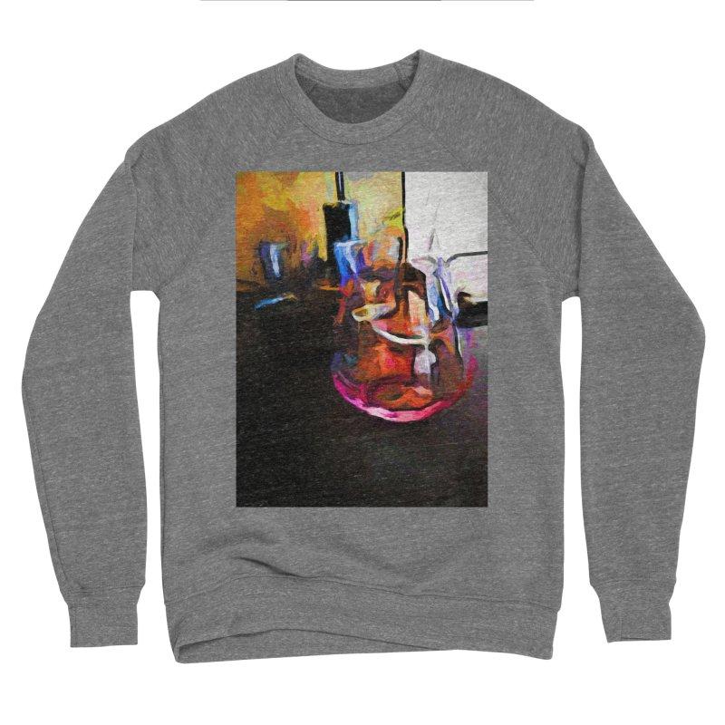 Wine Glass with Pink Wine Men's Sponge Fleece Sweatshirt by jackievano's Artist Shop