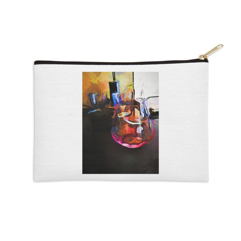 Wine Glass with Pink Wine Accessories Zip Pouch by jackievano's Artist Shop