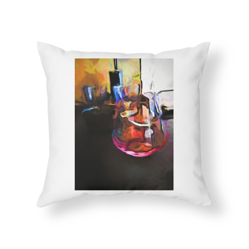 Wine Glass with Pink Wine Home Throw Pillow by jackievano's Artist Shop