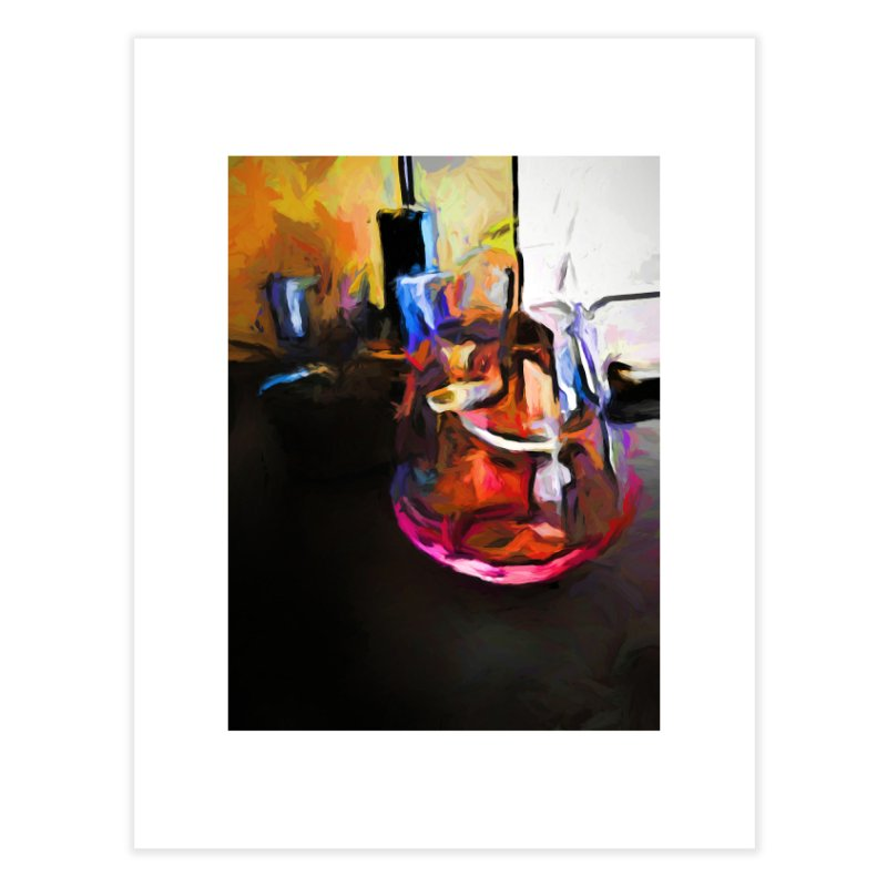Wine Glass with Pink Wine Home Fine Art Print by jackievano's Artist Shop