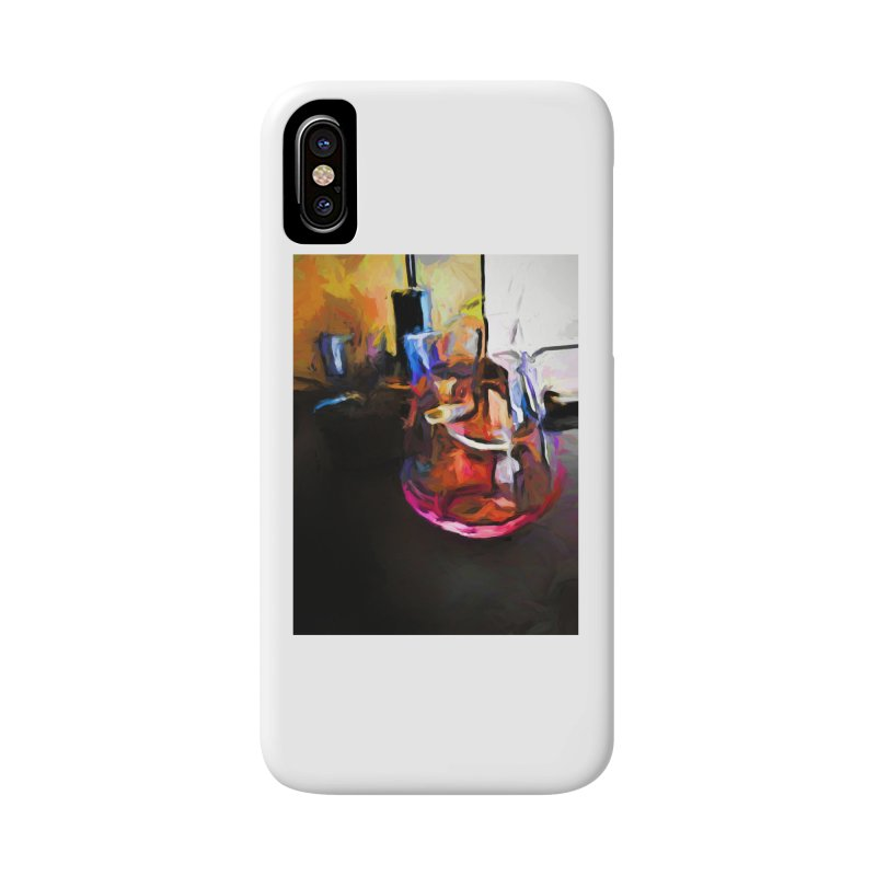 Wine Glass with Pink Wine Accessories Phone Case by jackievano's Artist Shop