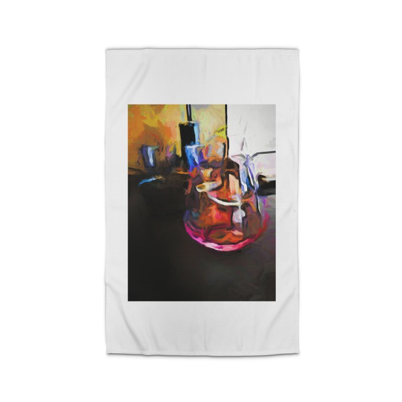 Wine Glass with Pink Wine Home Rug by jackievano's Artist Shop