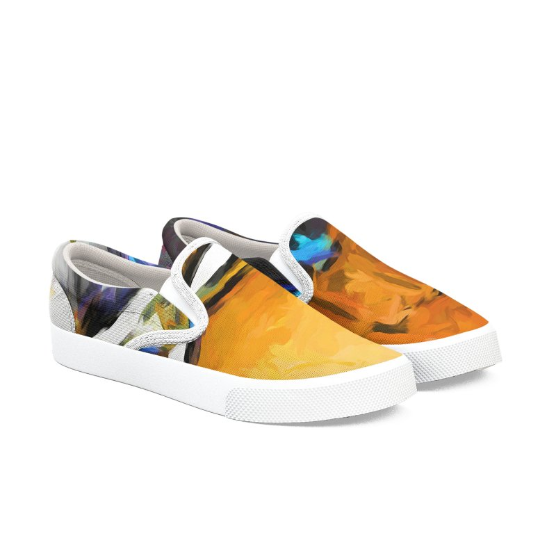 Glass Bowl with Cheese Grater Men's Slip-On Shoes by jackievano's Artist Shop