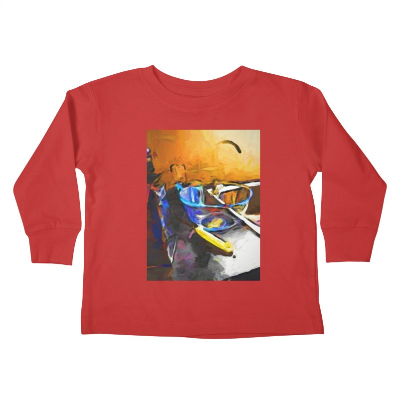 Glass Bowl with Cheese Grater Kids Toddler Longsleeve T-Shirt by jackievano's Artist Shop