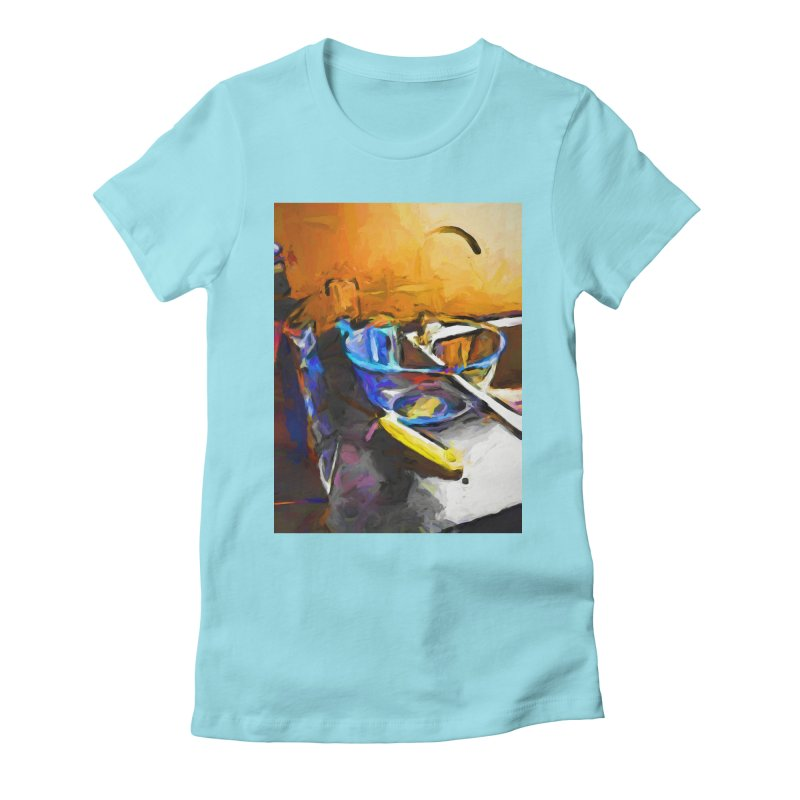 Glass Bowl with Cheese Grater Women's Fitted T-Shirt by jackievano's Artist Shop