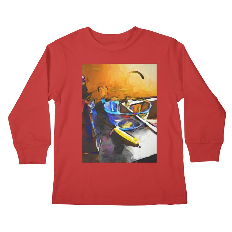 Glass Bowl with Cheese Grater Kids Longsleeve T-Shirt by jackievano's Artist Shop
