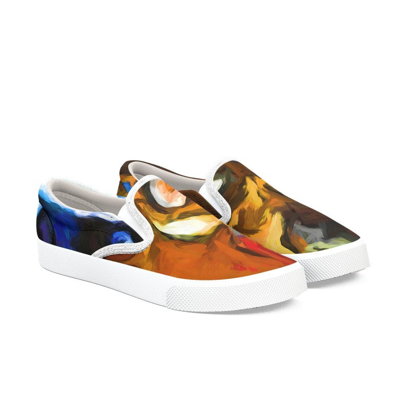 Cats in Shadows and Light Men's Slip-On Shoes by jackievano's Artist Shop