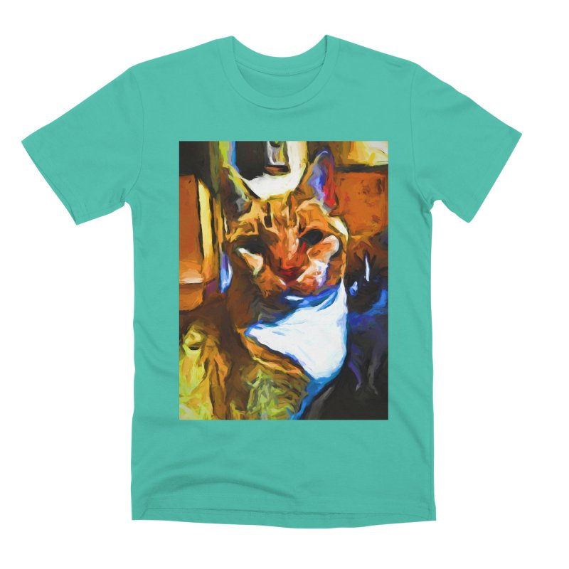 Cats in Shadows and Light Men's Premium T-Shirt by jackievano's Artist Shop