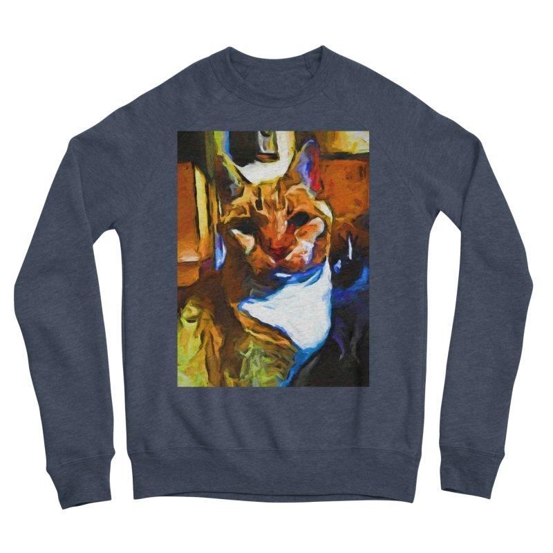 Cats in Shadows and Light Men's Sponge Fleece Sweatshirt by jackievano's Artist Shop