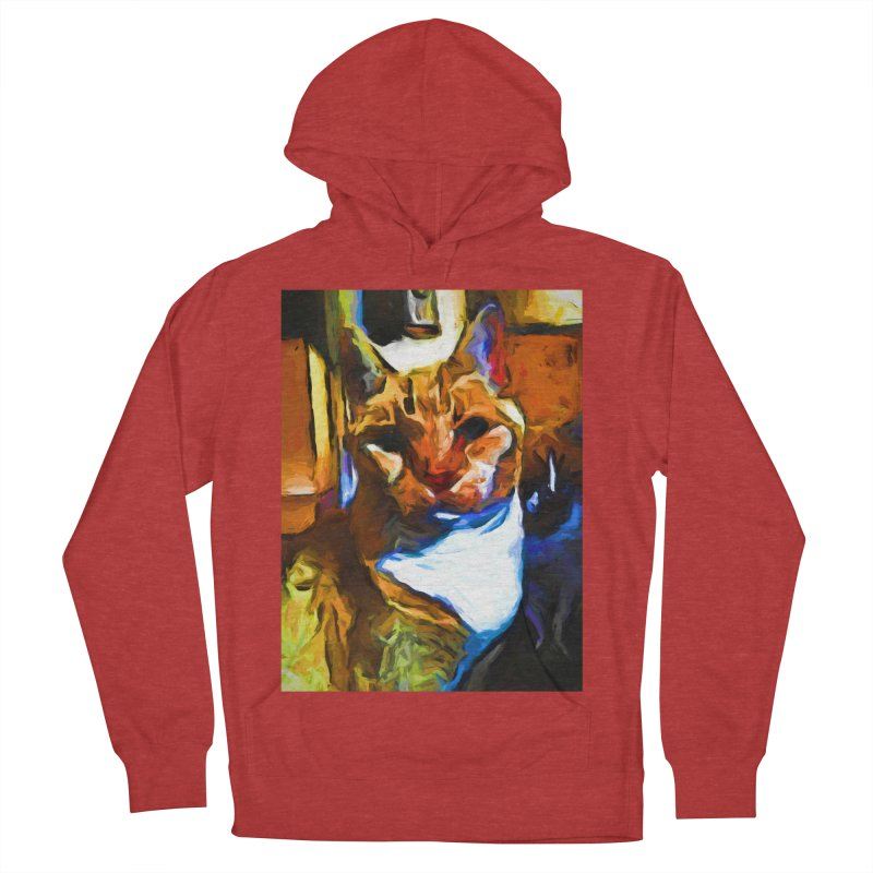 Cats in Shadows and Light Men's French Terry Pullover Hoody by jackievano's Artist Shop