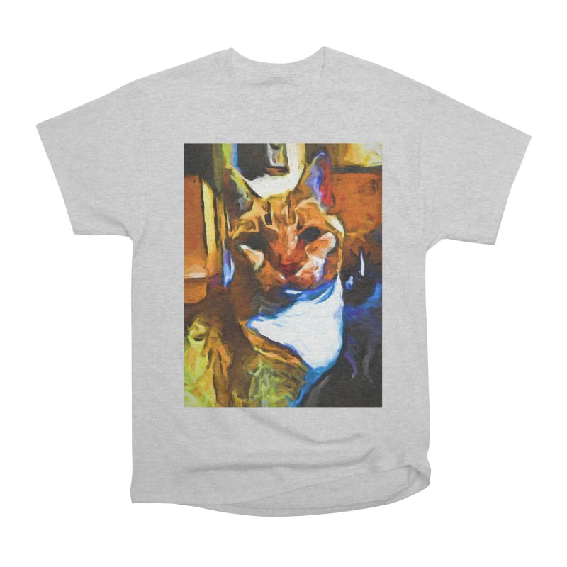 Cats in Shadows and Light Women's Heavyweight Unisex T-Shirt by jackievano's Artist Shop