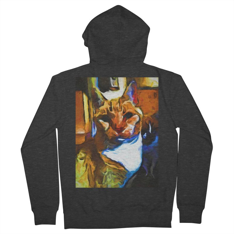 Cats in Shadows and Light Men's French Terry Zip-Up Hoody by jackievano's Artist Shop