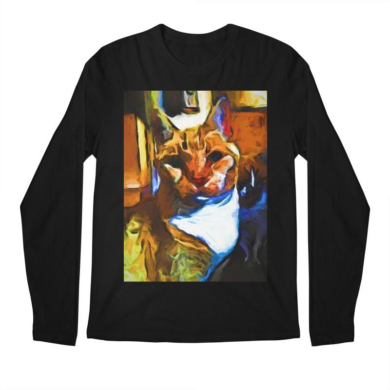Cats in Shadows and Light Men's Regular Longsleeve T-Shirt by jackievano's Artist Shop