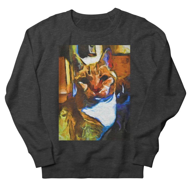Cats in Shadows and Light Men's French Terry Sweatshirt by jackievano's Artist Shop