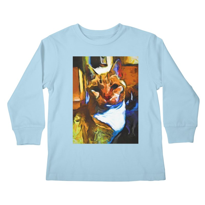 Cats in Shadows and Light Kids Longsleeve T-Shirt by jackievano's Artist Shop