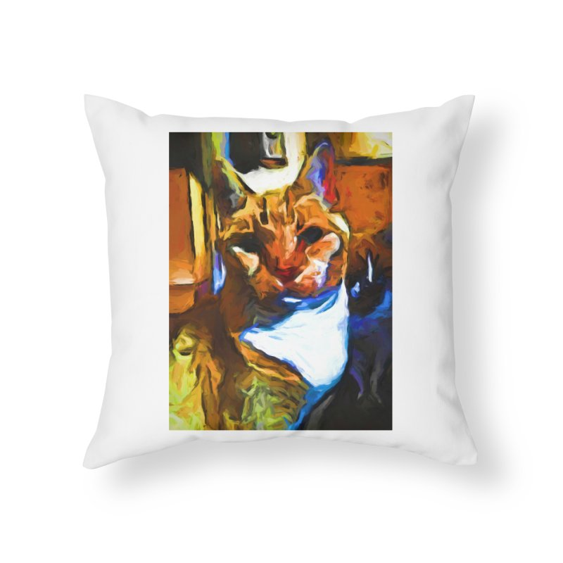 Cats in Shadows and Light Home Throw Pillow by jackievano's Artist Shop