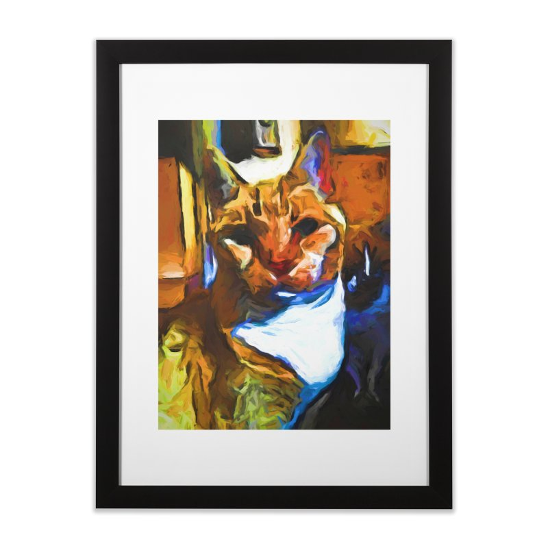 Cats in Shadows and Light Home Framed Fine Art Print by jackievano's Artist Shop