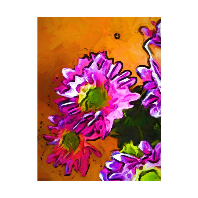 Posy of Pink and Green Daisies by jackievano's Artist Shop