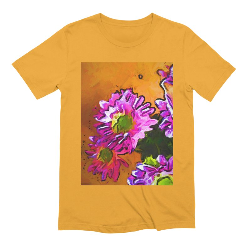 Posy of Pink and Green Daisies Men's Extra Soft T-Shirt by jackievano's Artist Shop