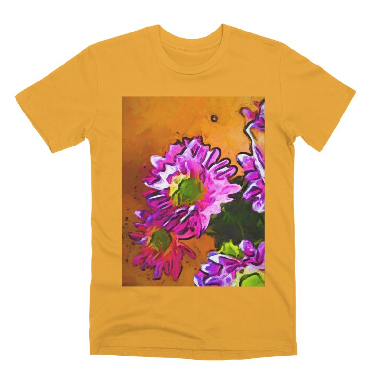 Posy of Pink and Green Daisies Men's Premium T-Shirt by jackievano's Artist Shop