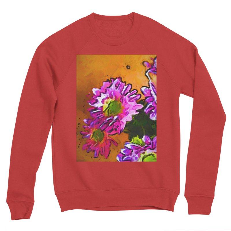 Posy of Pink and Green Daisies Men's Sponge Fleece Sweatshirt by jackievano's Artist Shop