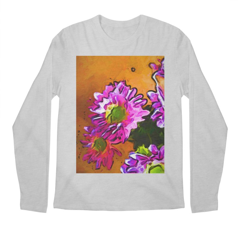 Posy of Pink and Green Daisies Men's Regular Longsleeve T-Shirt by jackievano's Artist Shop