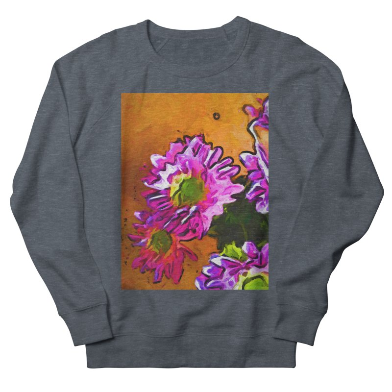 Posy of Pink and Green Daisies Men's French Terry Sweatshirt by jackievano's Artist Shop