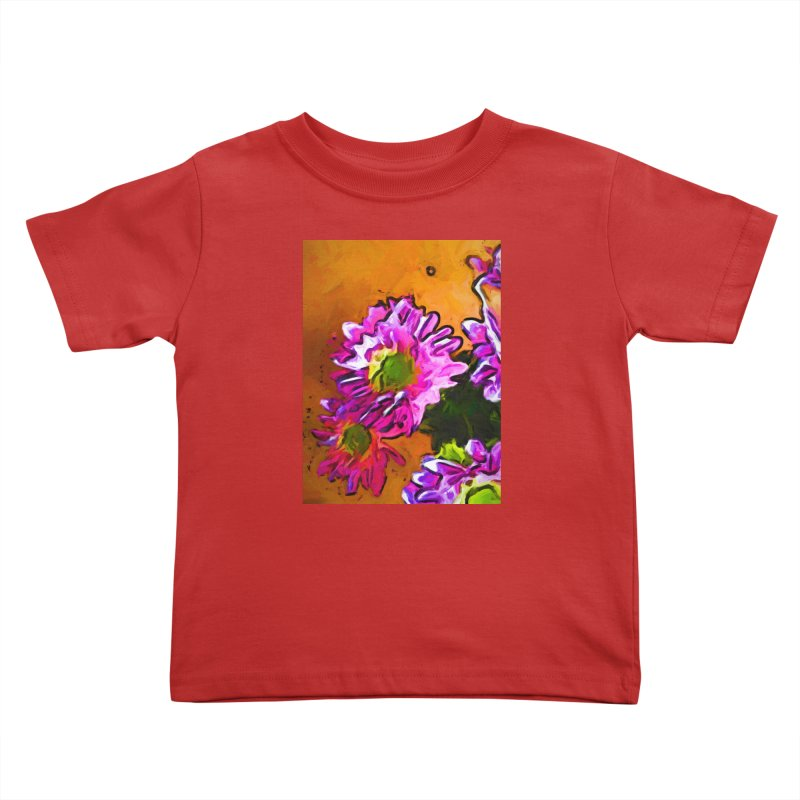 Posy of Pink and Green Daisies Kids Toddler T-Shirt by jackievano's Artist Shop