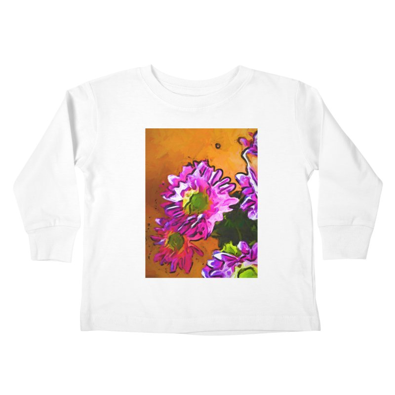 Posy of Pink and Green Daisies Kids Toddler Longsleeve T-Shirt by jackievano's Artist Shop