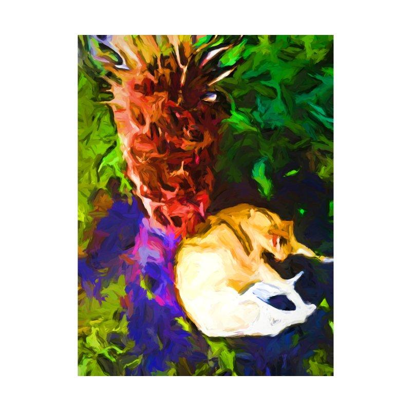 Sleeping Cat under Tree Fern by jackievano's Artist Shop