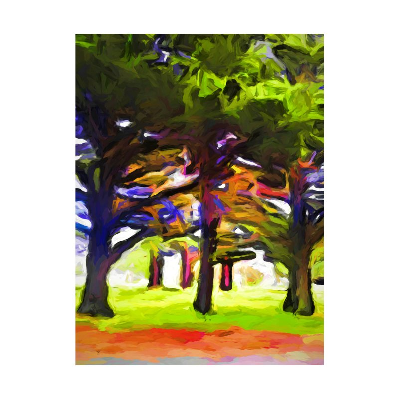 Pink Tree Trunks by jackievano's Artist Shop