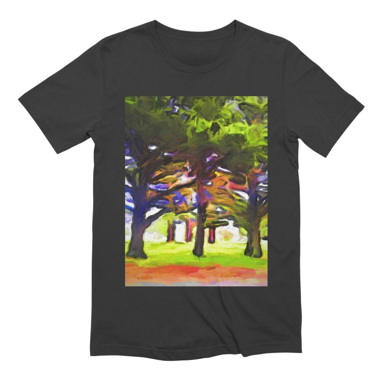 Pink Tree Trunks Men's Extra Soft T-Shirt by jackievano's Artist Shop