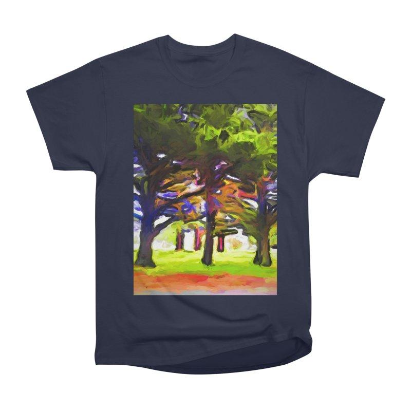 Pink Tree Trunks Women's Heavyweight Unisex T-Shirt by jackievano's Artist Shop