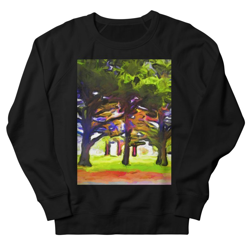 Pink Tree Trunks Men's French Terry Sweatshirt by jackievano's Artist Shop