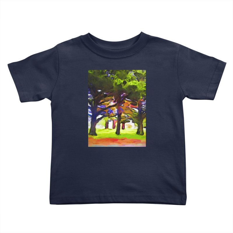 Pink Tree Trunks Kids Toddler T-Shirt by jackievano's Artist Shop