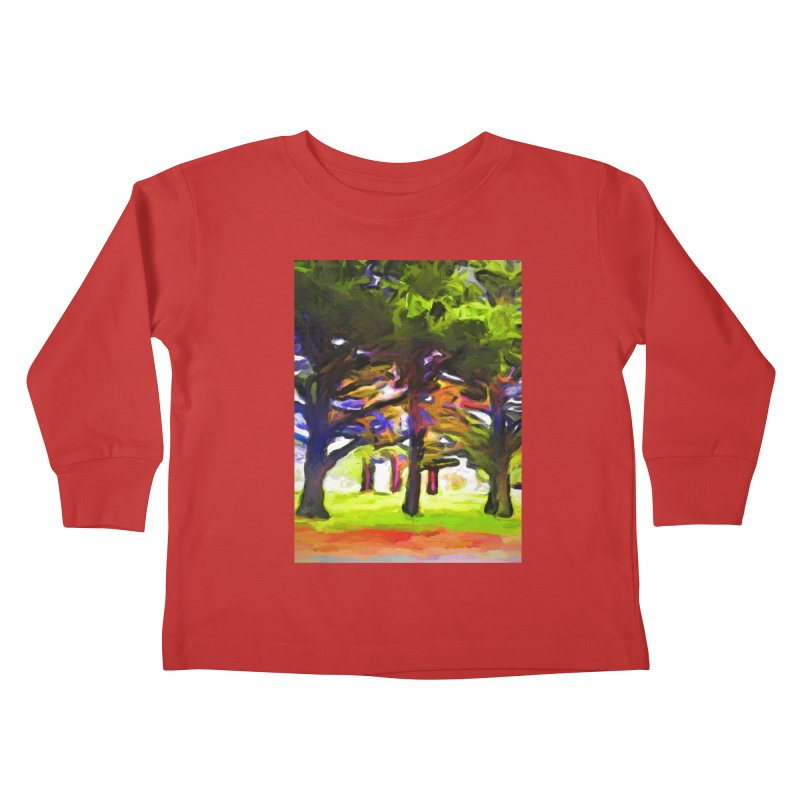 Pink Tree Trunks Kids Toddler Longsleeve T-Shirt by jackievano's Artist Shop
